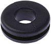 RS PRO Black PVC 9.5mm Round Cable Grommet