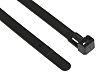 HellermannTyton Black Cable Tie Nylon Releasable, 150mm x