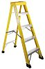 RS PRO Fibreglass 5 steps Step Ladder, 1.3m