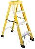 RS PRO Fibreglass 4 steps Step Ladder, 1.0m