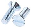 RS PRO Slot Countersunk Head Bright Zinc Plated