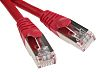 RS PRO Red PVC Cat5e Cable F/UTP, 500mm
