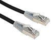 RS PRO Black Cat6 Cable F/UTP LSZH Male RJ45/Male RJ45, Terminated, 1m