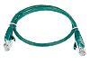 RS PRO Green PVC Cat5e Cable U/UTP, 500mm