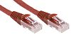 RS PRO Red Cat6 Cable U/UTP LSZH Male