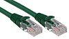 RS PRO Green LSZH Cat5e Cable U/UTP, 500mm