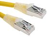 RS PRO Yellow Cat6 Cable FTP LSZH Male RJ45/Male RJ45, Terminated, 2m