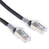 RS PRO Black Cat6 Cable F/UTP LSZH, 5m