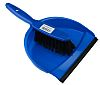 RS PRO Blue Dustpan & Brush for Dust