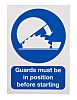 RS PRO Vinyl Mandatory Workplace Safety Sign With