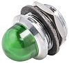 Panel Mount Indicator Lens & Lampholder Combination, Green