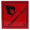 RS PRO Vinyl Safety Labels, Flammable Liquid-Text 100