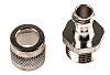 Adaptaflex Straight Cable Conduit Fitting, Brass Silver Nickel