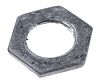 RS PRO Black Steel Cable Gland Locknut, M16