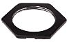 RS PRO Black Steel Cable Gland Locknut, M32