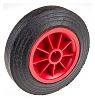 Guitel Black, Red Castor Wheels 6712012600, 200kg