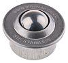ALWAYSE Circular Flange 15mm Stainless Steel Ball Transfer Unit