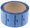 RS PRO Blue PP, Vinyl Pipe Marking Tape, text Compressed Air, Dim. W 50mm x L 33m