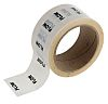 RS PRO White PP, Vinyl Pipe Marking Tape,