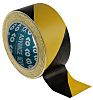 Advance Tapes AT8 Black/Yellow PVC 33m Hazard Tape,