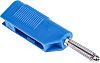 Hirschmann Test & Measurement Blue Male Banana Plug