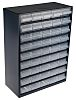 Raaco 45 Drawer Storage Unit, Steel, 417mm x