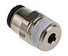 Legris Threaded-to-Tube Pneumatic Fitting R 1/8 to Push