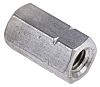 18mm Plain Stainless Steel Coupling Nut, M6, A2