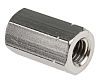 24mm Plain Stainless Steel Coupling Nut, M8, A2