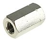 30mm Plain Stainless Steel Coupling Nut, M10, A2