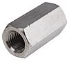 60mm Plain Stainless Steel Coupling Nut, M20, A2