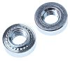 RS PRO Clear Passivated, Zinc Steel Clinch Nut,