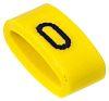 "HellermannTyton Ovalgrip Slide On Cable Marker, Pre-printed ""0"" ,Black on Yellow ,2.5 → 6mm Dia. Range"