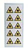 RS PRO Self-Adhesive Hazard Warning Sign