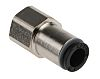 Legris Pneumatic Straight Threaded-to-Tube Adapter, G1/8 Female,