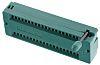 Conector hembra DIP ZIF de CI 3M serie Textool, paso de 2.54mm, 40 contactos, anch. 15.24mm, 1A, montaje orificios