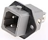 Hirschmann ST Series, Panel Mount 2P Industrial Power Plug, Rated At 16A, 250 V ac/dc