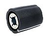Sifam Potentiometer Knob, 11mm Knob Diameter, Black, 4mm