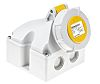 MENNEKES IP67 Yellow Wall Mount 3P 25 °