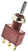 C & K SPDT Toggle Switch, On-Off-On, Panel