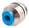 Festo Pneumatic Straight Threaded-to-Tube Adapter, G 1/8 Male,