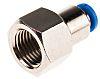 Festo Pneumatic Straight Threaded-to-Tube Adapter, G 1/4 Female,