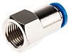 Festo Pneumatic Straight Threaded-to-Tube Adapter, G 1/4 Female,