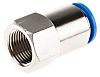 Festo Pneumatic Straight Threaded-to-Tube Adapter, G 3/8 Female,