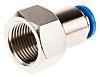 Festo Pneumatic Straight Threaded-to-Tube Adapter, G 3/8 Female,