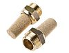 Festo AMTE Brass, Bronze 10bar Pneumatic Silencer, Threaded,