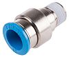 Festo Pneumatic Straight Threaded-to-Tube Adapter, R 1/4 Male,