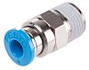 Festo Threaded-to-Tube Pneumatic Fitting R 1/8 to Push