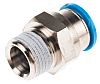Festo Pneumatic Straight Threaded-to-Tube Adapter, R 3/8 Male,