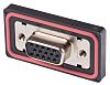 RS PRO 15 Way Panel Mount D-sub Connector
